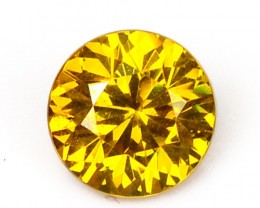 ~RARE~ Natural Sphalerite Golden Yellow (5.00 mm) Round Spain
