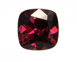 1.37cts Natural Rhodolite Garnet Cushion Cut