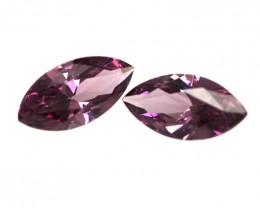 2.95cts Natural Rhodolite Garnet Matching Marquise