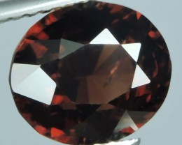 4.85 CTS DAZZLING NATURAL RARE TOP LUSTER INTENSE REDISH BROWN ZIRCON