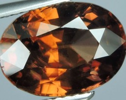 5.65 CTS EXTREME OVAL NATURAL RARE BROWN ZIRCON
