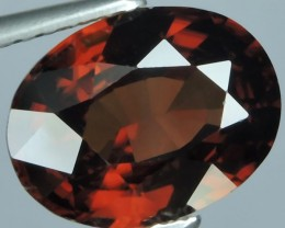 3.20 CTS FABULOUSLY NATURAL REDISH BROWN ZIRCON TOP QUALITY