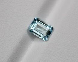 1.33Ct Natural Aquamarine Emerald Cut Lot 0810-6