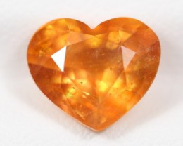 NR! 4.23Ct Natural Yellow Color Heart Cut Sapphire