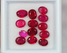 6.00Ct Natural Ruby Oval Cut Lot 0810-15