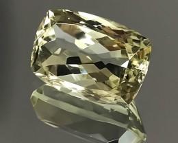10.65ct Glittering Prasiolite - Green Amethyst -  No Reserve Auct