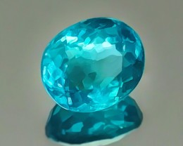 1.72ct Intensely bright beautiful blue Apatite Gem