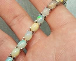 Amazing Natural 68.5tcw. Multi-Color Fire Opal Bracelet Untreated