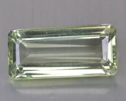 16.22 Cts Natural Green Amethyst/Prasiolite Octagon Cut Brazil Gem