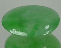 1.75 Cts Natural Green Jade Cabochon Burmese Gem