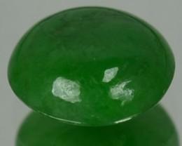1.30 Cts Natural Green Jade Cabochon Burmese Gem