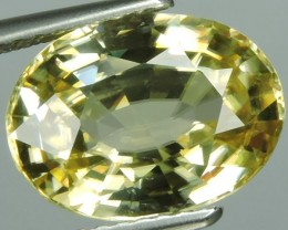 certified-5.40 Ct AWESOME SPARKLE NATURAL NR BEST UNEAT YELLOW ZIRCON $1280