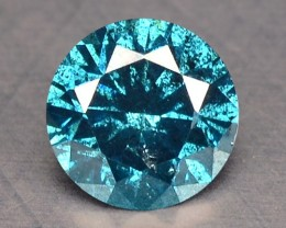 0.15 Cts Natural Fancy Blue Diamond Round Africa