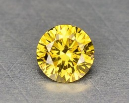 0.10 Cts Natural Fancy Top Yellow Diamond Round