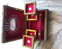 ANTIQUE COLLECTED,ROYAL HANDMADE--BEAUTIFULJEWELCASE