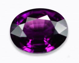 5.61 Cts Stunning Eye Clean Vivid Purple Garnet