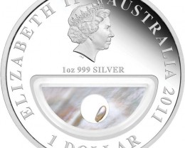 Treasures of Australia Pearls 1oz Silver Proof Locket Coin
