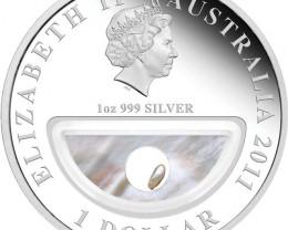 Treasures of Australia Pearls 1oz Silver Proof Locket Coin