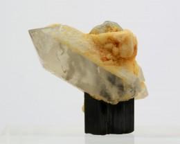 108 Cts Black Tourmaline With Quartz Specimen From Pakistan