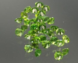 1.12 CT CHROME DIOPSIDE PARCEL - 2.25 MM #20