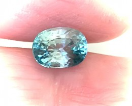 3.16ct Marvellous Caribbean Blue Natural Cambodian Zircon