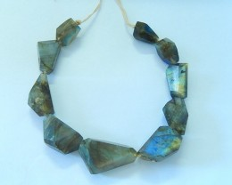 316.5ct Natural Faceted Labradorite Necklace Beads(17100911)