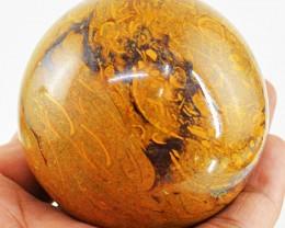 1345 cts Golden Art Picture Jasper Healing Ball