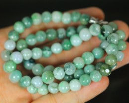 261.0Ct Genuine Burmese Type-A Jadeite Jade  Necklace