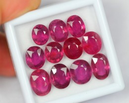 37.65Ct Natural Good Luster Red Color Ruby Lot