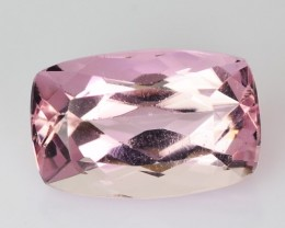 ~RARE~ 1.54 Cts UNHEATED - NATURAL IMPERIAL TOPAZ - BABY PINK - CUSHION - B