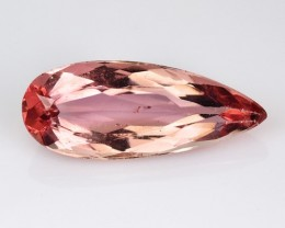 ~RAREST~ 2.01 Cts UNHEATED - NATURAL IMPERIAL TOPAZ - BABY PINK - PEAR - BR
