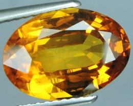 5.90 CTS AWESOME NICE ORANGEISH-YELLOW SAPPHIRE FACET GENUINE