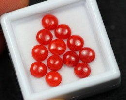 5.79Ct Natural Untreated Italy Red Coral Round Lot