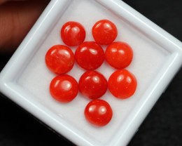 6.87Ct Natural Untreated Italy Red Coral Round Lot