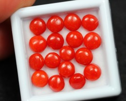 9.59Ct Natural Untreated Italy Red Coral Round Lot