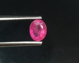 AWESOME Certified 1.00cts Natural Burmese Ruby , Untreated Gemstone