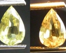 1.61CT Color Change Diaspore (Zultanit) , 100% Natural Gemstone