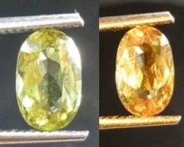 2.45CT Color Change Diaspore (Zultanit) , 100% Natural Gemstone