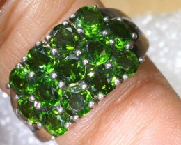 CTS DIOPSIDE QUARTZ SILVER RING SG-2517