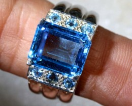 41CTS TOPAZ SILVER RING SG-2533