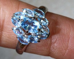 17CTS TOPAZ SILVER RING SG-2535