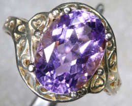 26CTS AMETHYST SILVER RING SG-2537