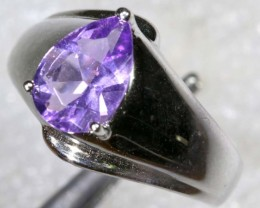 27.8CTS AMETHYST SILVER RING SG-2543