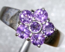 28CTS AMETHYST SILVER RING SG-2547