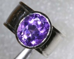 46CTS AMETHYST SILVER RING SG-2545