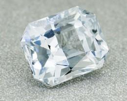 Natural Ceylon White Sapphire, 1.23 Ct **Good Cutting** (00715)