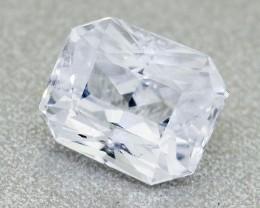 Unheated Natural Ceylon White Sapphire, 1.02 Ct **Good Cutting** (00493)