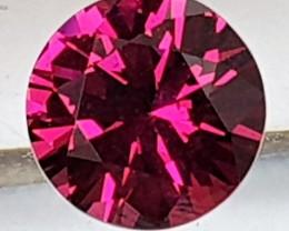 1.86cts Color Shift Rhodolite, Precision Brilliant Cut, Untreated