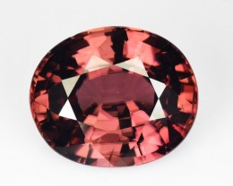 6.88 Cts Natural Zircon Sparkling Brownish Pink Oval Tanzania