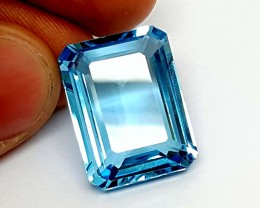 32.85 Crt Blue Topaz High Luster & Stunning  Gemstone   Jl135